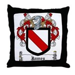 James Family Crest Throw Pillow