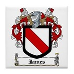 James Family Crest Tile Coaster