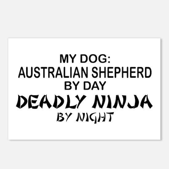 Australian Shprd Deadly Ninja Postcards (Package o