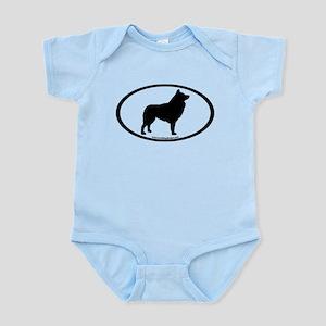 Schipperke Oval Infant Bodysuit