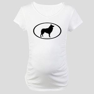 Schipperke Oval Maternity T-Shirt