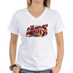 Superflywebpimp's Women's V-Neck T-Shirt