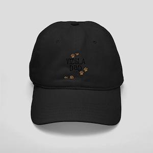 Vizsla Dad Black Cap