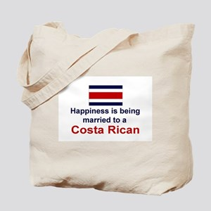 Happily Married To Costa Rican Tote Bag