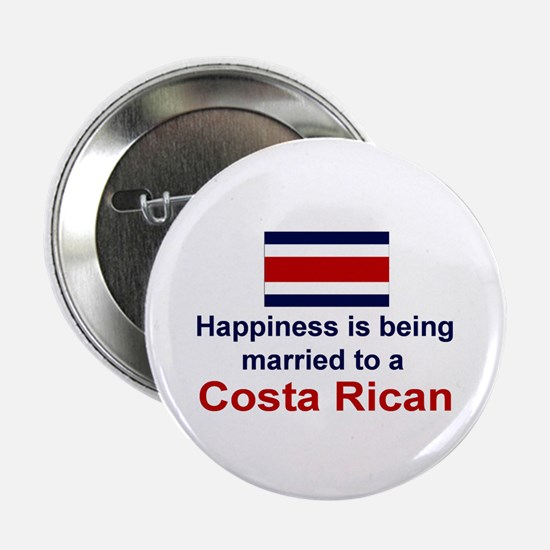 """Happily Married To Costa Rican 2.25"""" Button"""