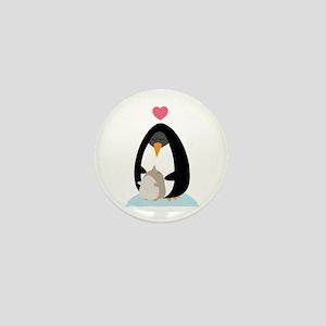 Penguin Love Mini Button