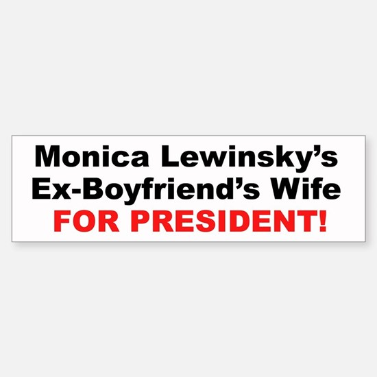 Monica Lewinsky's Ex-Boyfriends Wife for President