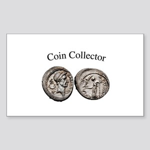 Coin Collector Rectangle Sticker