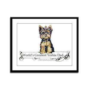 Yorkshire Terrier Dad! Framed Panel Print