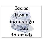 Ice is Like a Man's Ego Small Poster