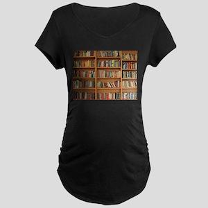 Bookshelf Books Library Bookworm Maternity T-Shirt