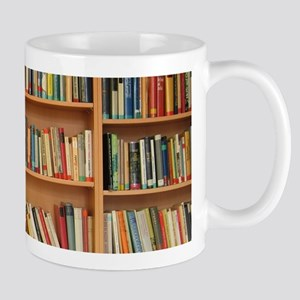 Bookshelf Books Library Bookworm Reading Mugs
