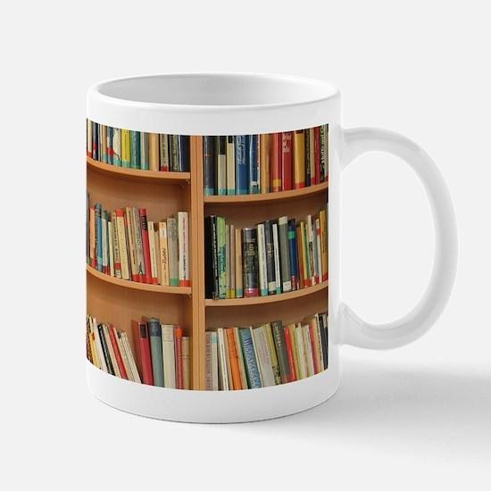 Bookshelf Books Library Bookworm Reading Mugs