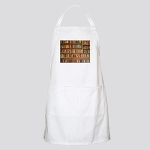 Bookshelf Books Library Bookworm Readi Light Apron