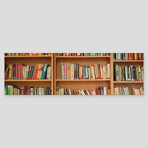 Bookshelf Books Library Bookworm Re Bumper Sticker