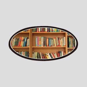 Bookshelf Books Library Bookworm Reading Patch