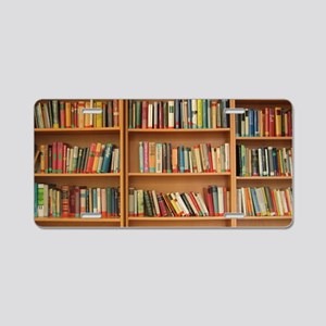 Bookshelf Books Library Boo Aluminum License Plate