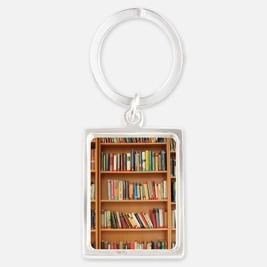 Bookshelf Books Library Bookworm Reading Keychains
