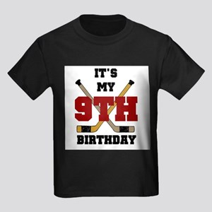 Hockey 9th Birthday Kids T-Shirt