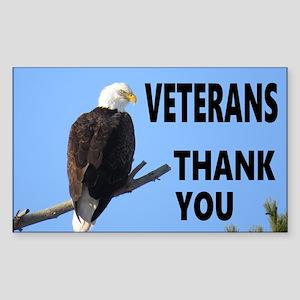 Veterans Thanks Sticker