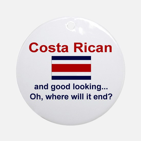 Gd Lkg Costa Rican Ornament (Round)