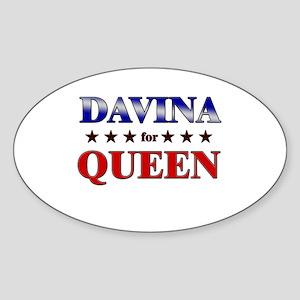 DAVINA for queen Oval Sticker