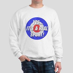 A Real Sport! Curling Sweatshirt