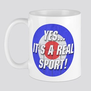 A Real Sport! Curling Mug