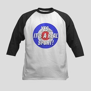 A Real Sport! Curling Kids Baseball Jersey
