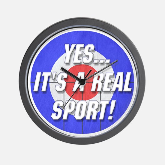 A Real Sport! Curling Wall Clock