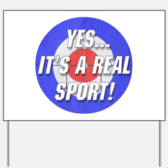 A Real Sport! Curling Yard Sign