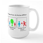 Escape The Cops Large Mug