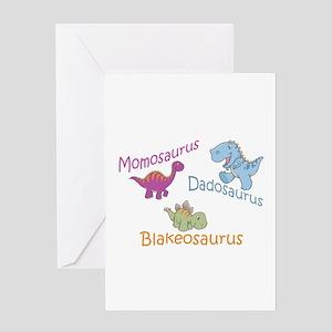 Mom, Dad & Blakeosaurus Greeting Card