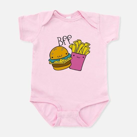 BFF Hamburger Fries Baby Light Bodysuit