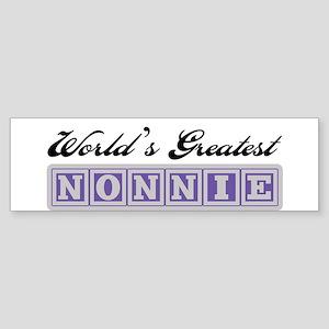 World's Greatest Nonnie Bumper Sticker