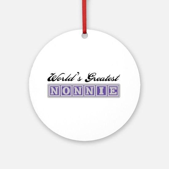 World's Greatest Nonnie Ornament (Round)