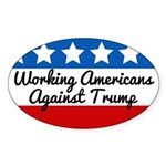 Working Americans Against Trump Oval Sticker