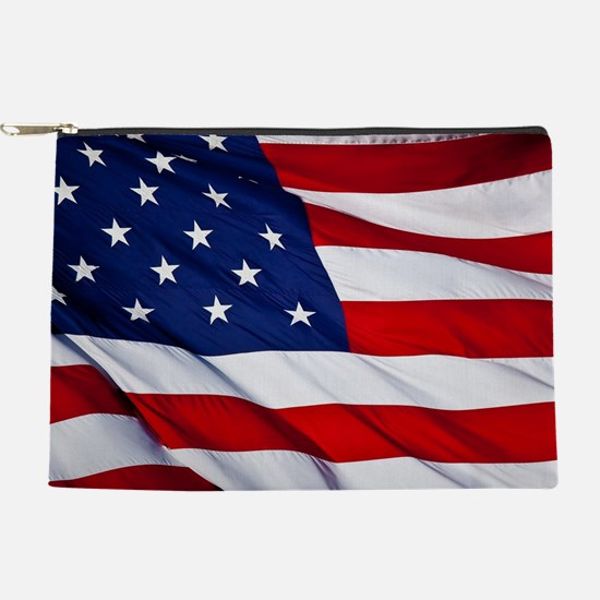 United States Flag in All Her Glory Makeup Bag