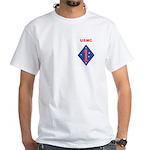 FIRST MARINE DIVISION - GUADALCANAL White T-Shirt