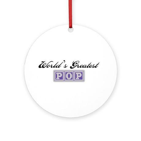 World's Greatest Pop Ornament (Round)