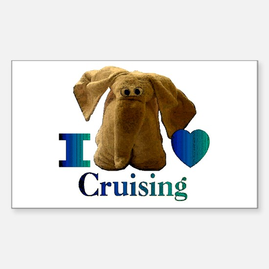 I Heart ( Love ) Cruising Rectangle Decal