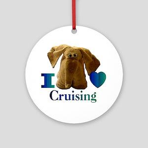 I Heart ( Love ) Cruising  Ornament (Round)