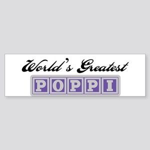 World's Greatest Poppi Bumper Sticker