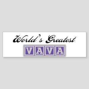 World's Greatest Vava Bumper Sticker