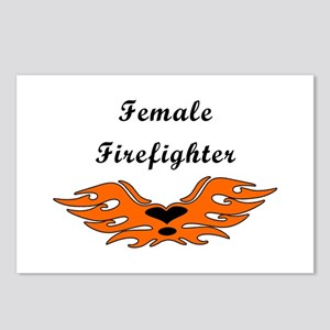 Female Firefighting Postcards (Package of 8)