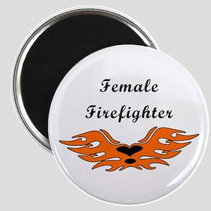 Female Firefighting Magnet