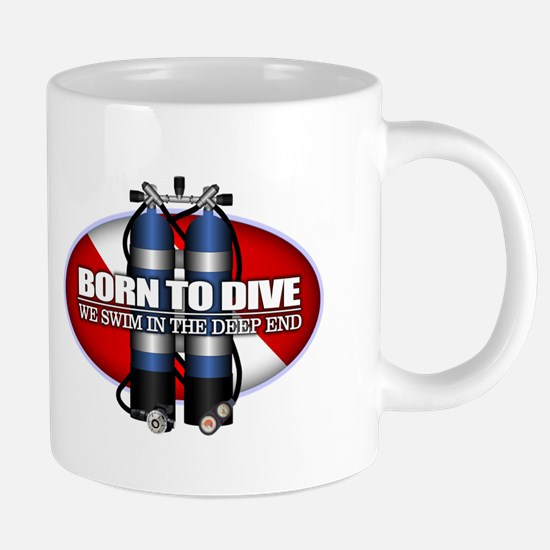 Born To Dive (ST) Mugs