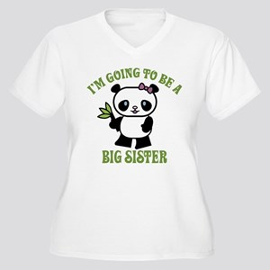 I'm Going To Be A Big Sister Women's Plus Size V-N