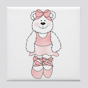 PINK BALLERINA BEAR Tile Coaster