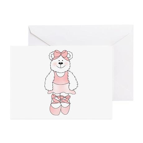 PINK BALLERINA BEAR Greeting Cards (Pk of 10)